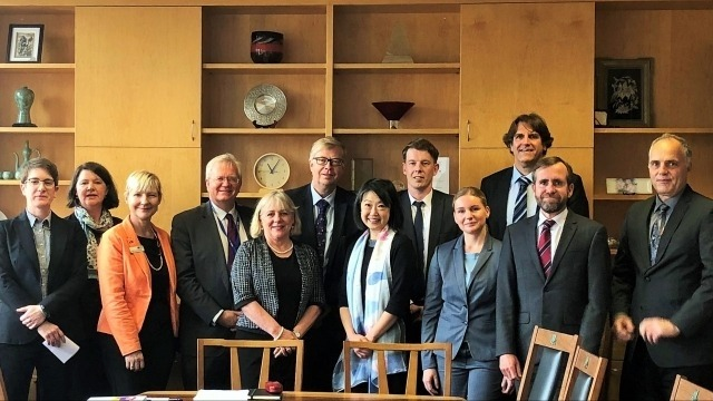 German Federal Ministry of Education & Research (BMBF) visits ANU, 24 October 2018
