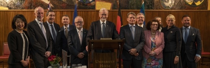 ANU Chancellor, Professor Gareth Evans AC QC presents the Schuman Lecture, September 2019