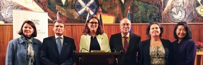 EU Commissioner for Trade Cecilia Malmström gives the Schuman Lecture, June 2018