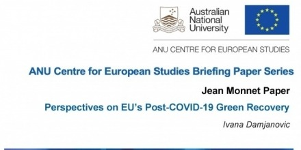 New publication: 'Perspectives on EU's Post-COVID-19 Green Recovery' by Dr Ivana Damjanovic