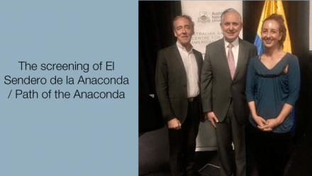 The screening of El Sendero de la Anaconda / Path of the Anaconda