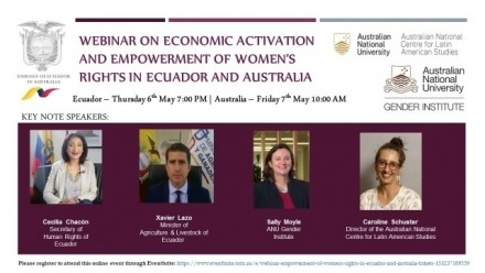 Webinar on Economic Activation and Empowerment of Women's Right in Ecuador and Australia