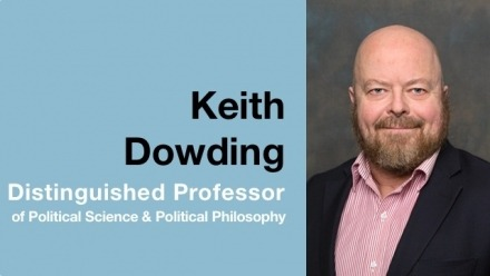 Professor Keith Dowding promoted to Distinguished Professor