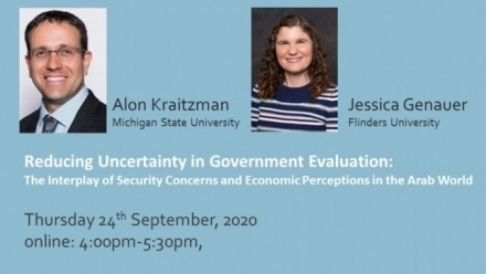 Online: Alon Kraitzman & Jessica Genauer - Reducing Uncertainty in Government Evaluation: The Interplay of Security Concerns and Economic Perceptions in the Arab World