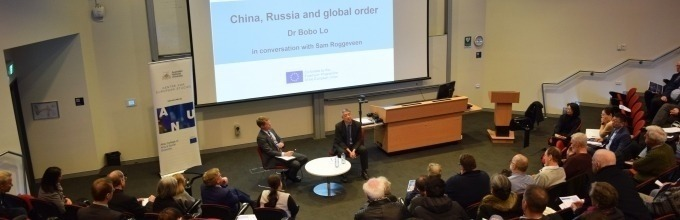 Dr Bobo Lo and Sam Roggeveen in-conversation at the 'China, Russia and global order' public lecture, August 2019